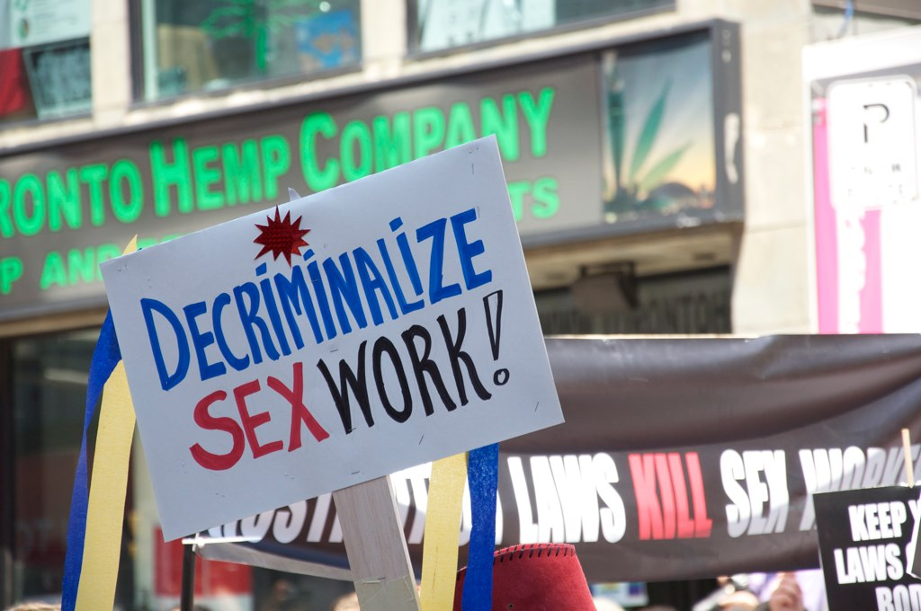 """""""Decriminalize Sex Work"""" by mzulak is licensed under CC BY-NC-SA 2.0"""
