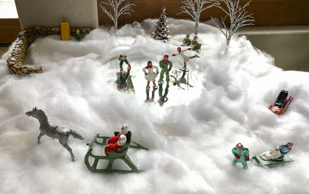 Joyce Crain continues to honor the memory of Marty Bernstein every holiday season by putting together same-sex couples in this Christmas display called Foolerville.