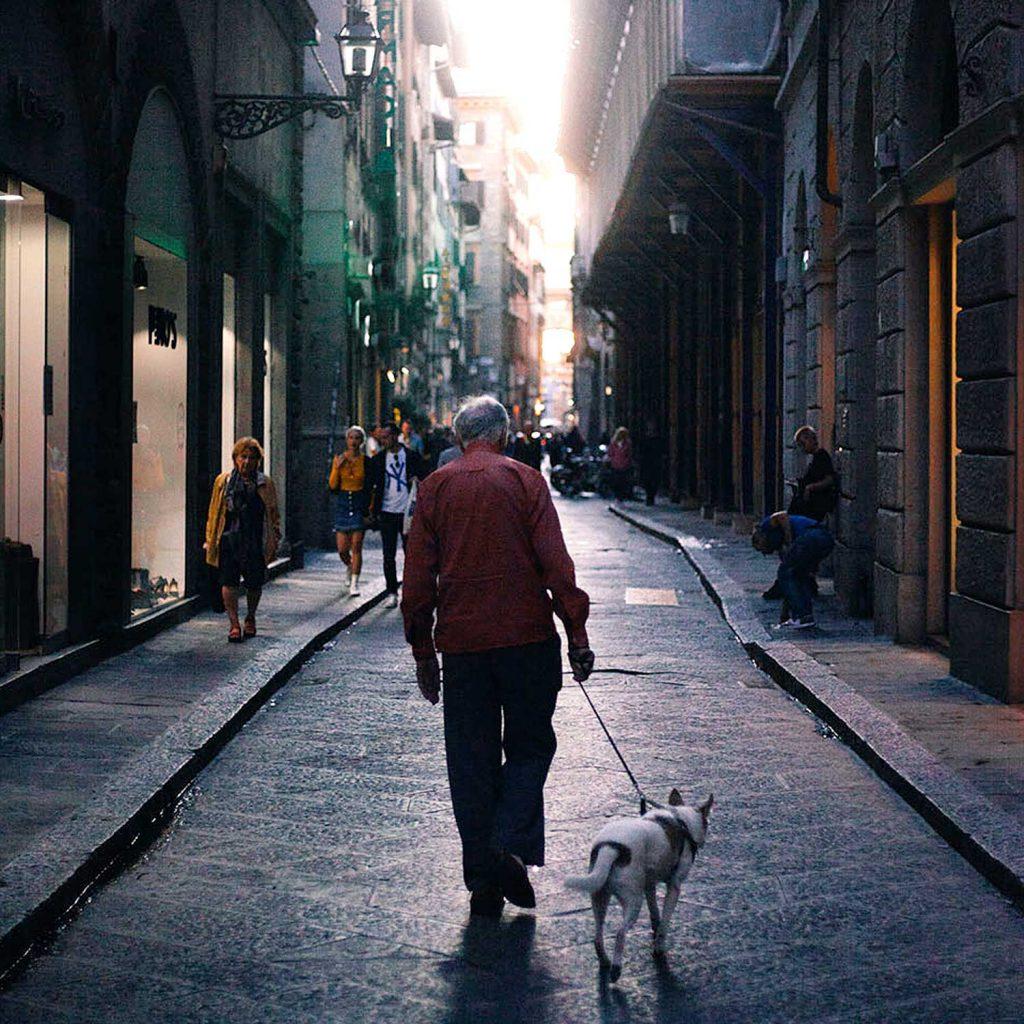 old man/dog