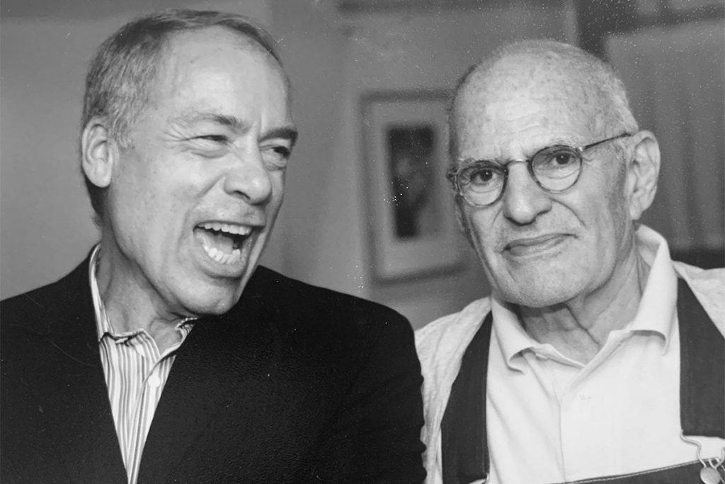 Photograph showing Louis Bradbury and Larry Kramer in mid 1990s.